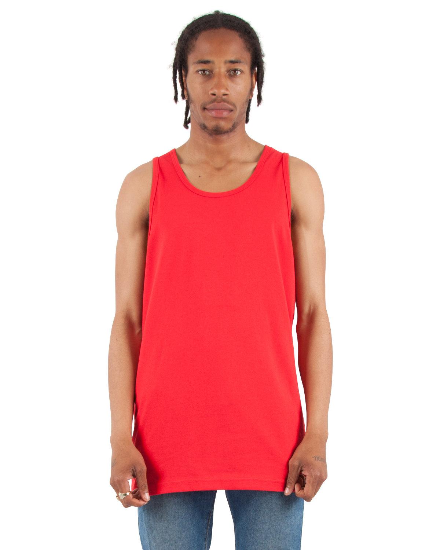 Shaka Wear Drop Ship Adult 6 oz., Active Tank Top RED