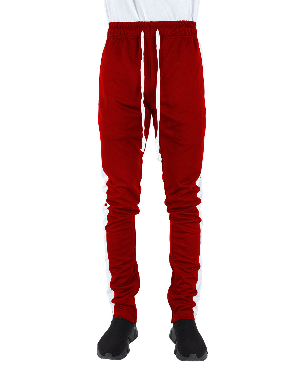 Shaka Wear Drop Ship Men's Track Pants RED/ WHITE