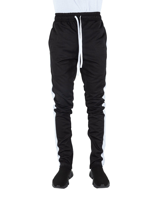 Shaka Wear Drop Ship Men's Track Pants BLACK/ WHITE