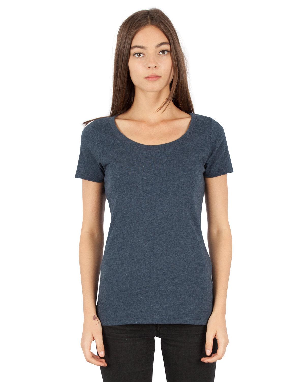 Simplex Apparel Drop Ship Ladies' CVC Scoop T-Shirt OBSIDIAN NAVY