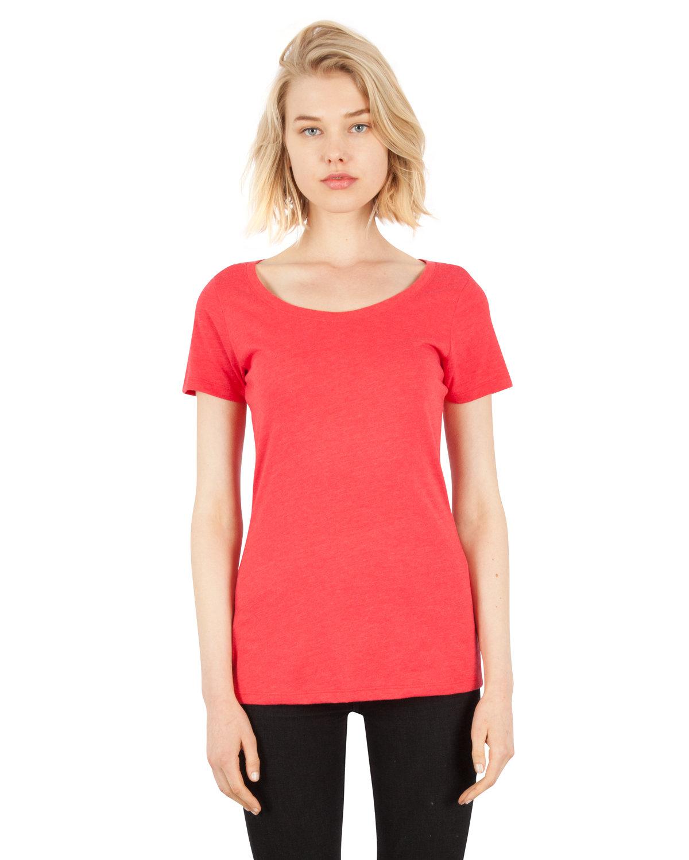 Simplex Apparel Drop Ship Ladies' CVC Scoop T-Shirt RED