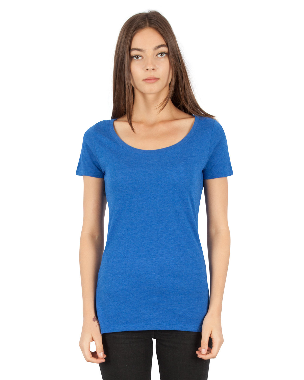 Simplex Apparel Drop Ship Ladies' CVC Scoop T-Shirt ROYAL