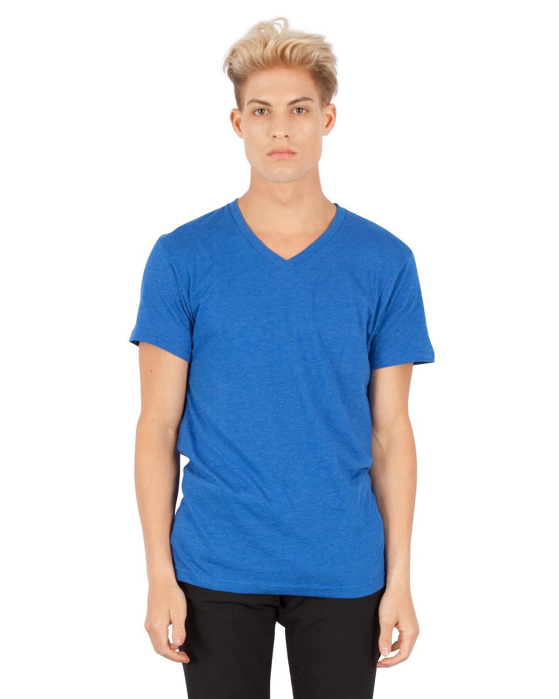 Simplex Apparel Drop Ship Men's CVC V-Neck T-Shirt ROYAL