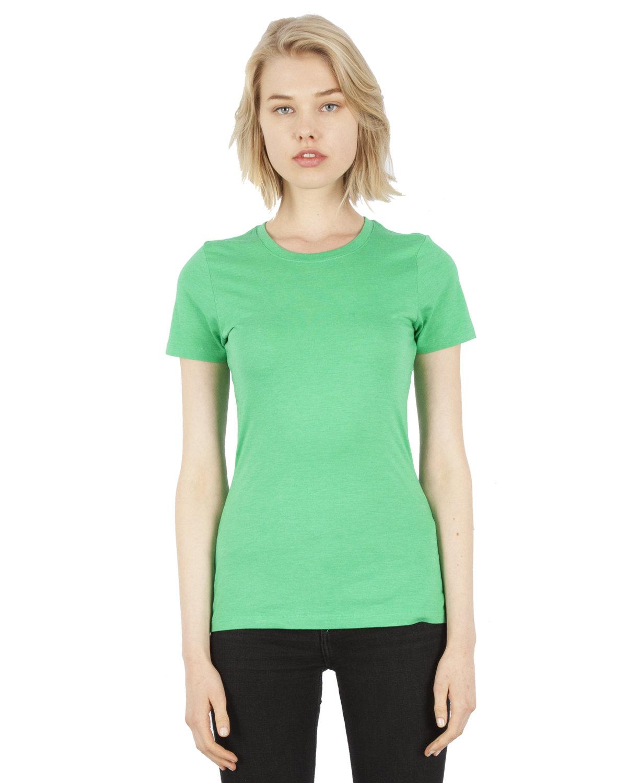 Simplex Apparel Drop Ship Ladies' 4.6 oz. Tri-Blend T-Shirt LUSH GREEN