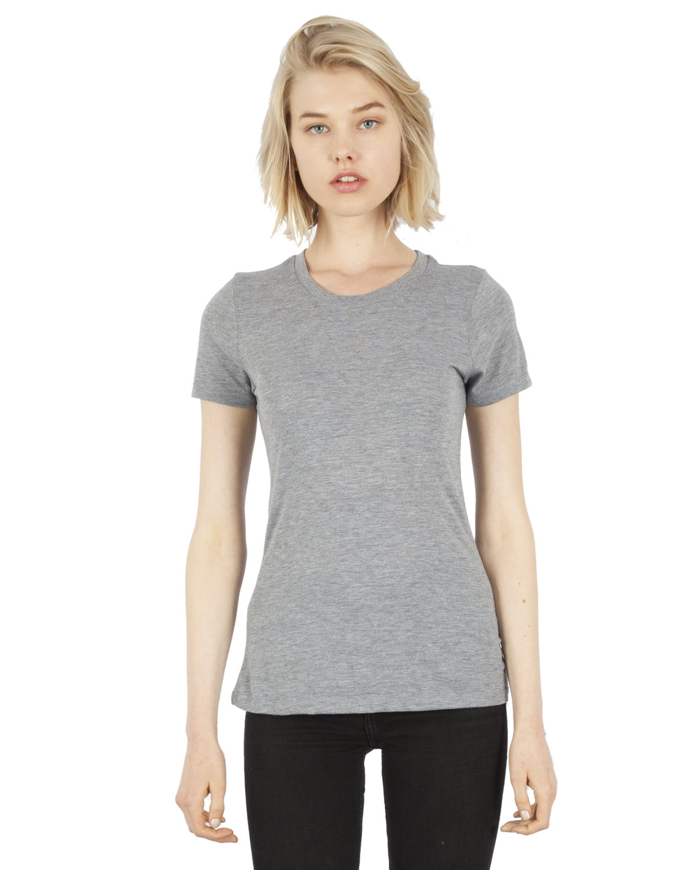 Simplex Apparel Drop Ship Ladies' 4.6 oz. Tri-Blend T-Shirt HEATHER GREY