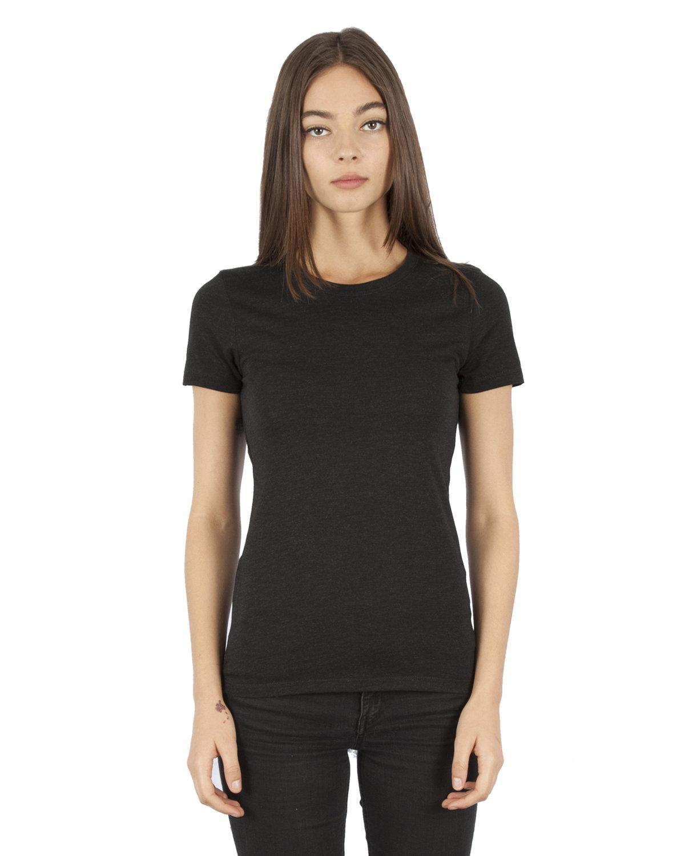 Simplex Apparel Drop Ship Ladies' 4.6 oz. Tri-Blend T-Shirt VINTAGE BLACK