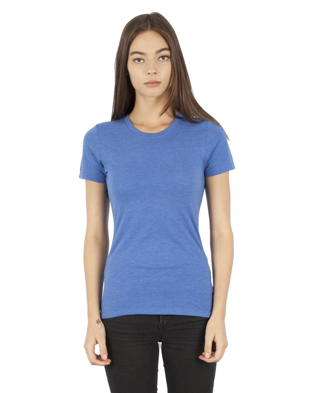 Simplex Apparel Drop Ship Ladies' 4.6 oz. Tri-Blend T-Shirt ROYAL