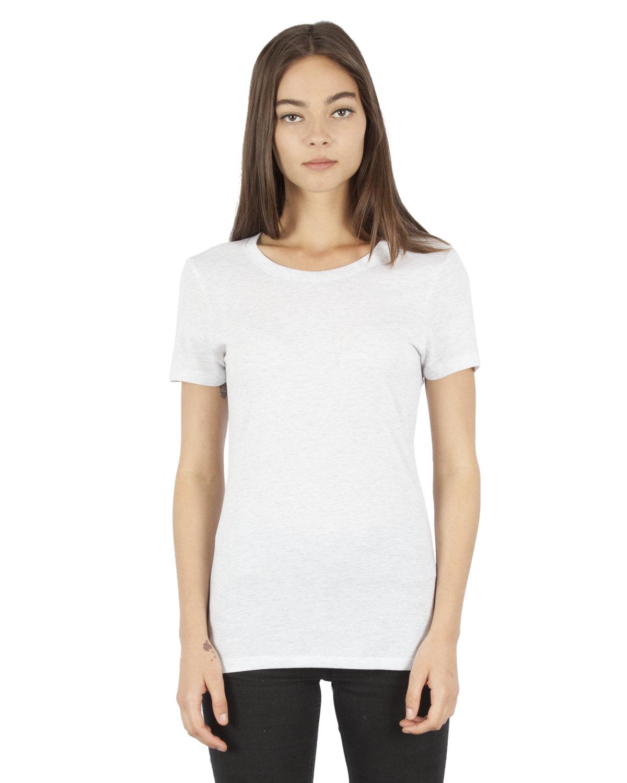 Simplex Apparel Drop Ship Ladies' 4.6 oz. Tri-Blend T-Shirt SPECKLED WHITE