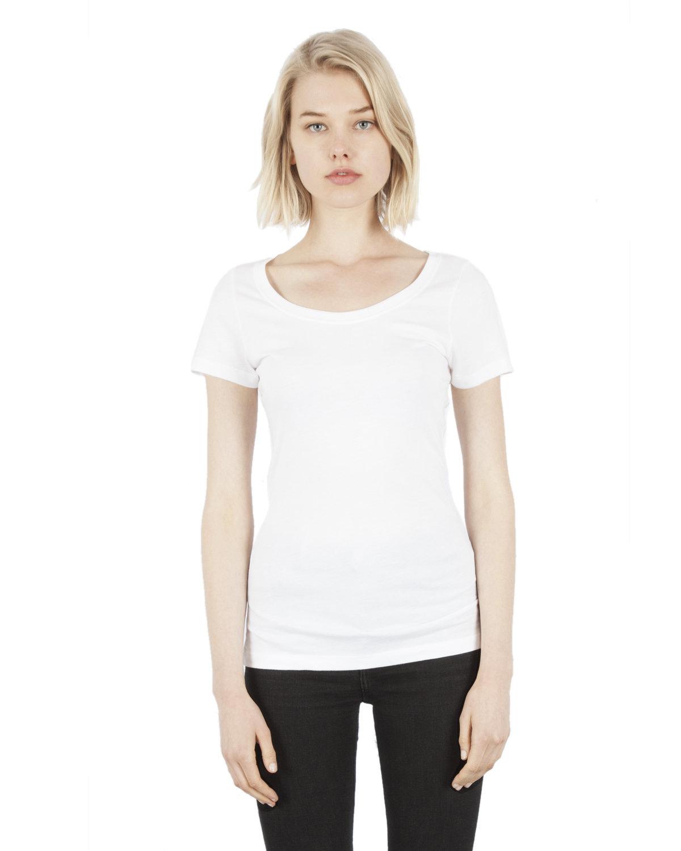 Simplex Apparel Drop Ship Ladies' 4.6 oz. Modal Scoop Neck T-Shirt WHITE