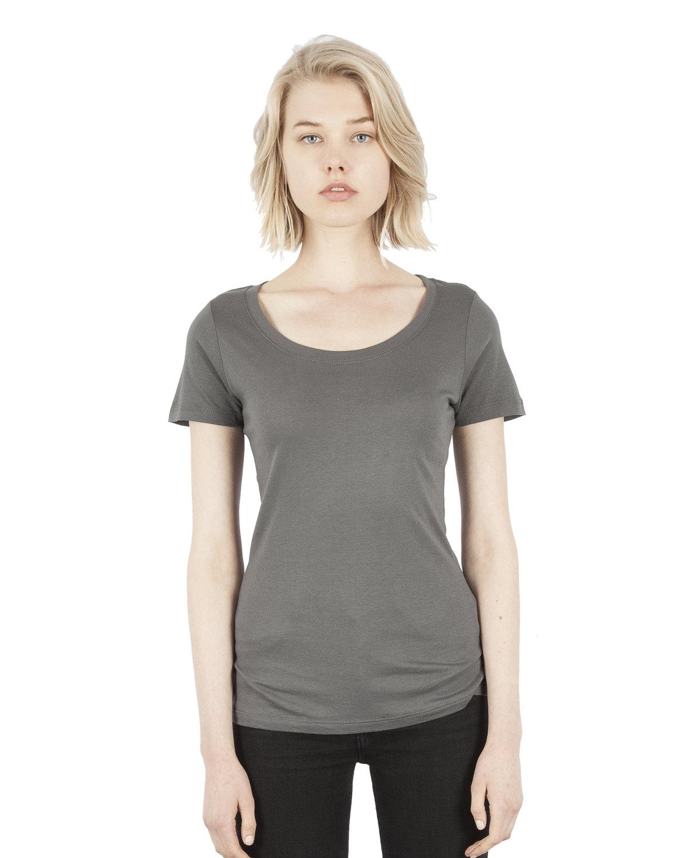Simplex Apparel Drop Ship Ladies' 4.6 oz. Modal Scoop Neck T-Shirt DARK GREY