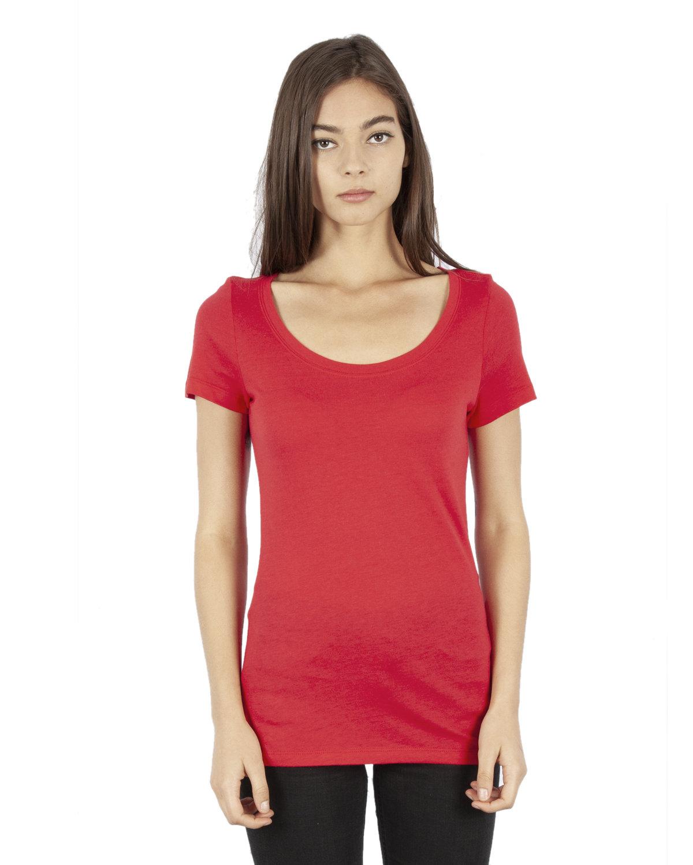 Simplex Apparel Drop Ship Ladies' 4.6 oz. Modal Scoop Neck T-Shirt RED