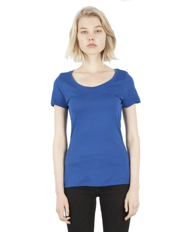 Simplex Apparel Drop Ship Ladies' 4.6 oz. Modal Scoop Neck T-Shirt ROYAL