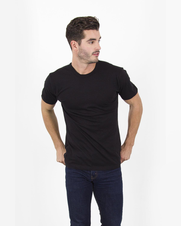 Simplex Apparel Drop Ship Men's 4.6 oz. Modal T-Shirt BLACK