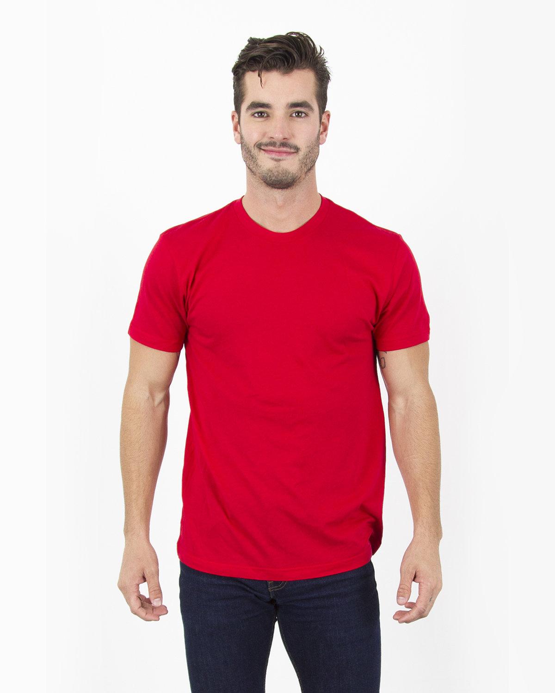 Simplex Apparel Drop Ship Men's 4.6 oz. Modal T-Shirt RED