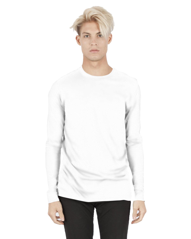 Simplex Apparel Drop Ship Unisex 4.6 oz. Modal Long-Sleeve T-Shirt WHITE