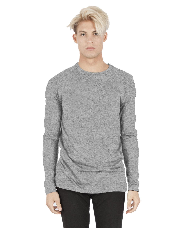 Simplex Apparel Drop Ship Unisex 4.6 oz. Modal Long-Sleeve T-Shirt HEATHER GREY