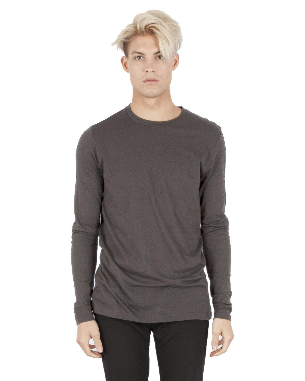 Simplex Apparel Drop Ship Unisex 4.6 oz. Modal Long-Sleeve T-Shirt DARK GREY