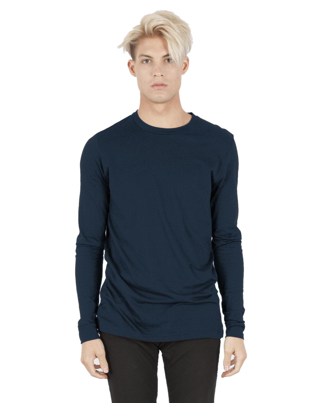 Simplex Apparel Drop Ship Unisex 4.6 oz. Modal Long-Sleeve T-Shirt NAVY