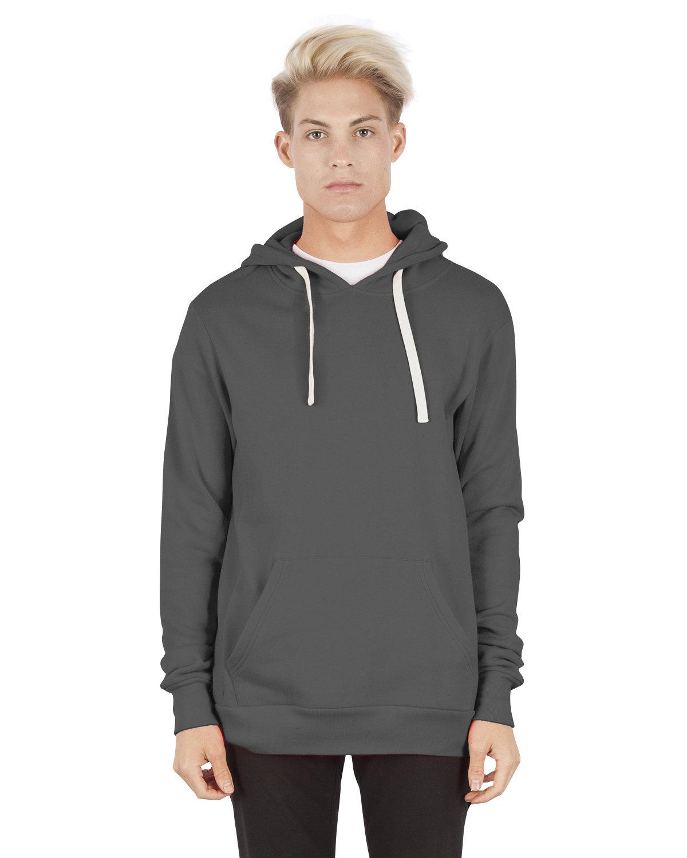 Simplex Apparel Drop Ship Unisex 7.6 oz. Modal Pullover Hooded T-Shirt DARK GREY