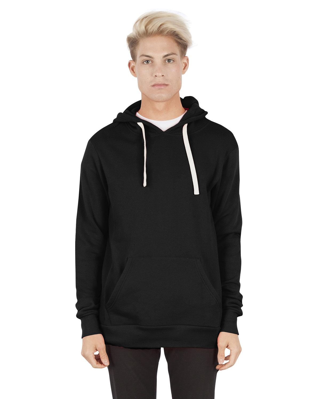 Simplex Apparel Drop Ship Unisex 7.6 oz. Modal Pullover Hooded T-Shirt BLACK
