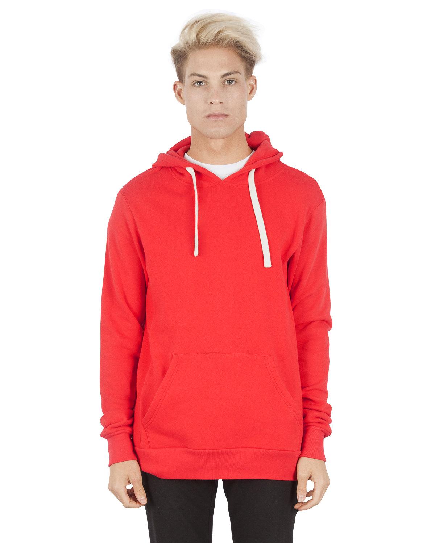 Simplex Apparel Drop Ship Unisex 7.6 oz. Modal Pullover Hooded T-Shirt RED
