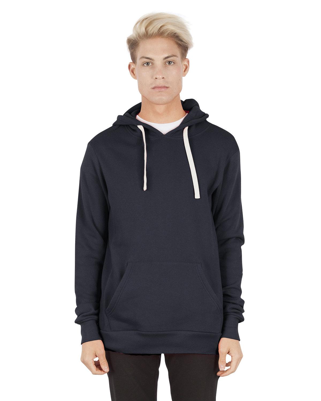 Simplex Apparel Drop Ship Unisex 7.6 oz. Modal Pullover Hooded T-Shirt NAVY