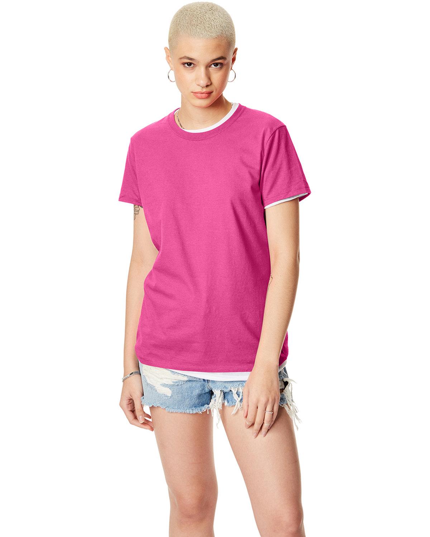 Hanes Ladies' Nano-T® T-Shirt WOW PINK
