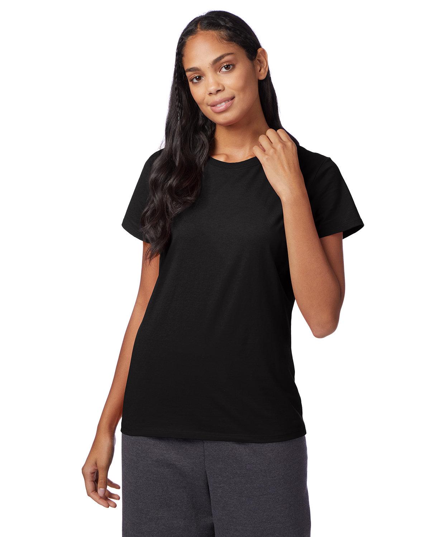 Hanes Ladies' Nano-T® T-Shirt BLACK