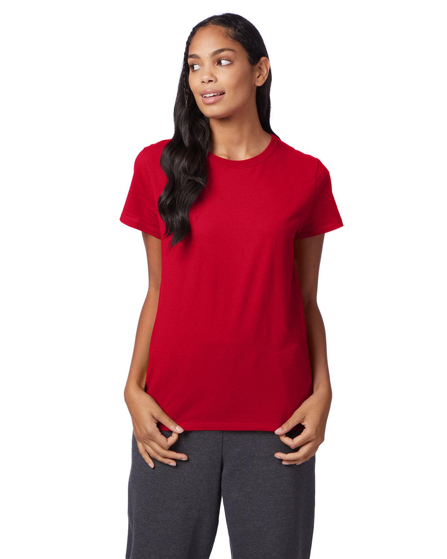 Hanes Ladies' Nano-T® T-Shirt DEEP RED