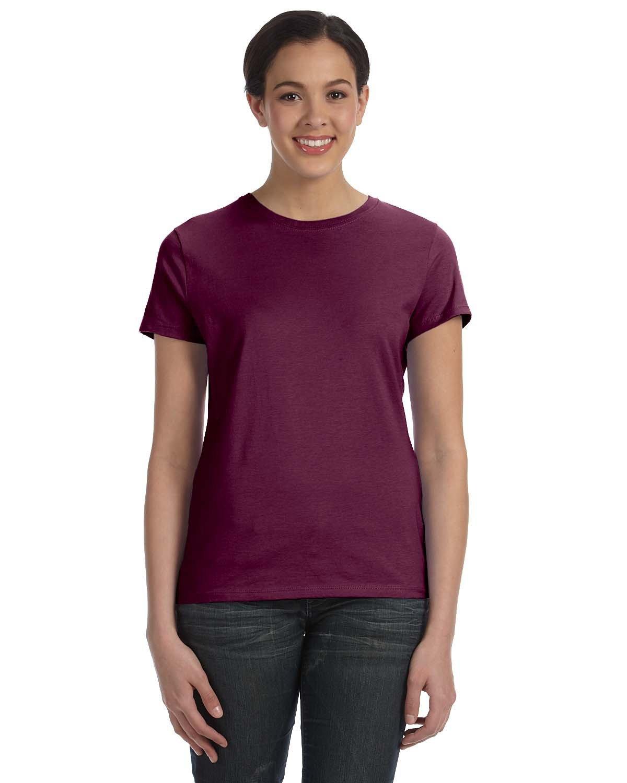 Hanes Ladies' Nano-T® T-Shirt MAROON