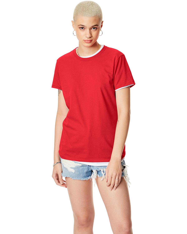 Hanes Ladies' Nano-T® T-Shirt ATHLETIC RED