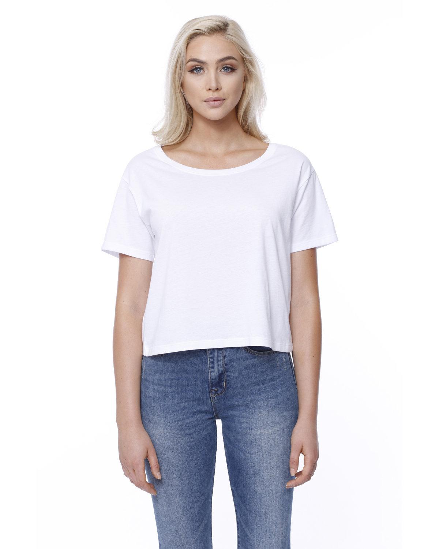 StarTee Drop Ship Ladies' Cotton Boxy T-Shirt WHITE