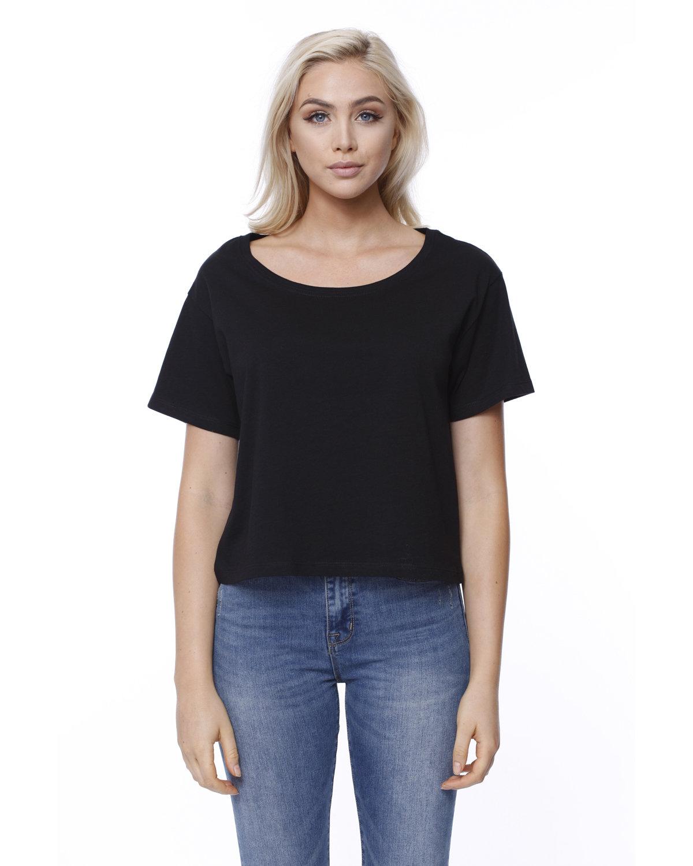 StarTee Drop Ship Ladies' Cotton Boxy T-Shirt BLACK