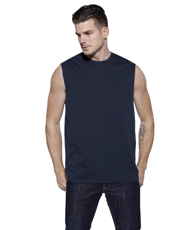 StarTee Drop Ship Men's Cotton Muscle T-Shirt NAVY