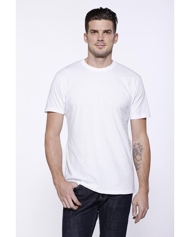 StarTee Drop Ship Men's CVC Crew Neck T-shirt WHITE