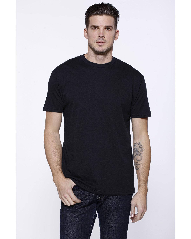 StarTee Drop Ship Men's CVC Crew Neck T-shirt BLACK