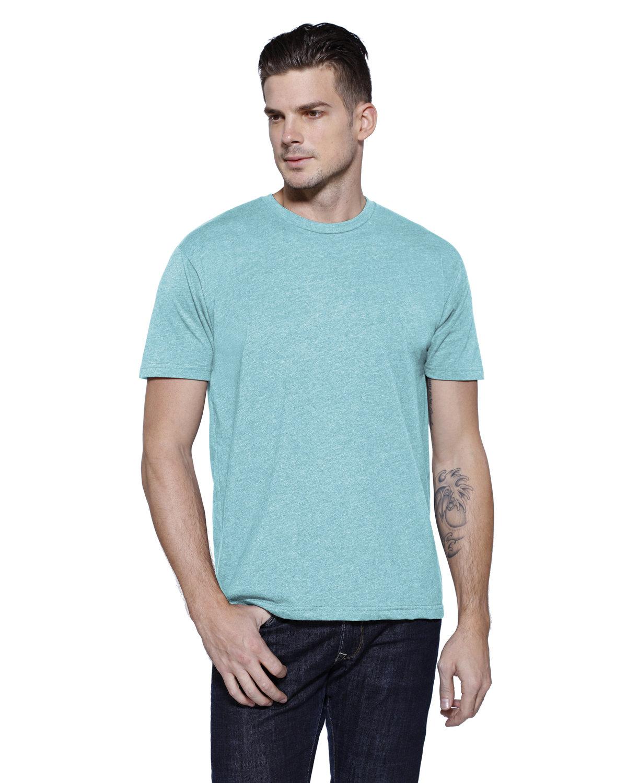 StarTee Drop Ship Men's CVC Crew Neck T-shirt CELESTE HEATHER