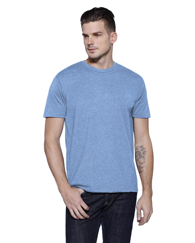 StarTee Drop Ship Men's CVC Crew Neck T-shirt OCEAN BLUE HTHR