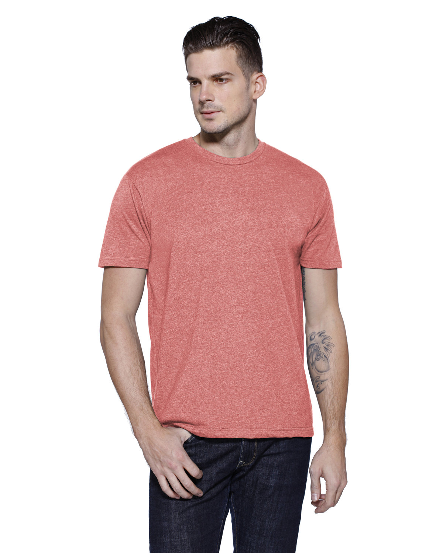 StarTee Drop Ship Men's CVC Crew Neck T-shirt PINK LEMONDE HTH