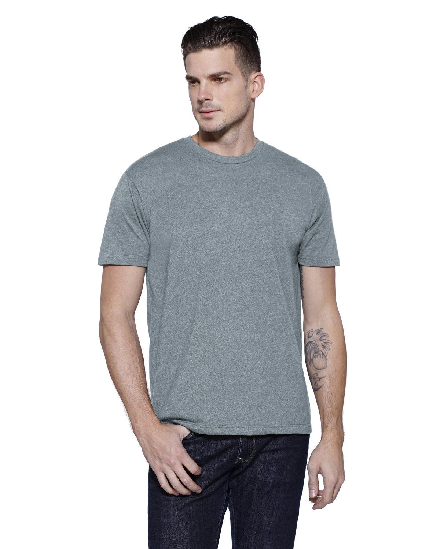 StarTee Drop Ship Men's CVC Crew Neck T-shirt STONE HEATHER