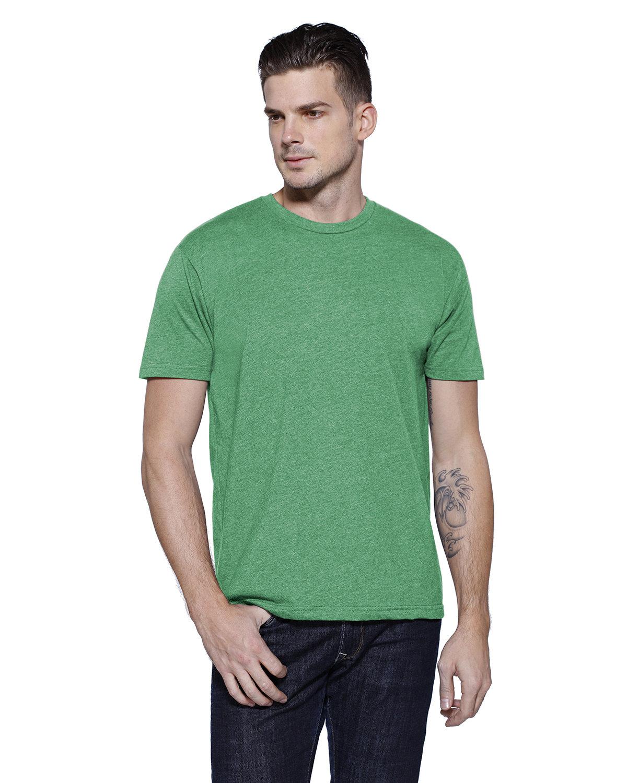 StarTee Drop Ship Men's CVC Crew Neck T-shirt KELLY GRN HEATHR