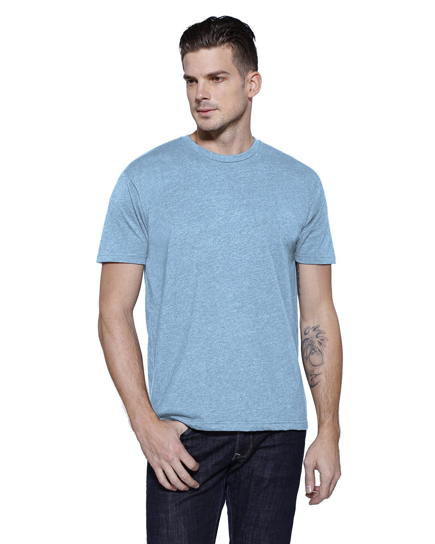 StarTee Drop Ship Men's CVC Crew Neck T-shirt LT BLUE HEATHER