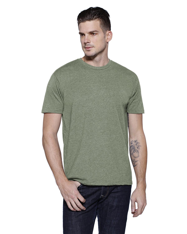 StarTee Drop Ship Men's CVC Crew Neck T-shirt MILITARY GRN HTH