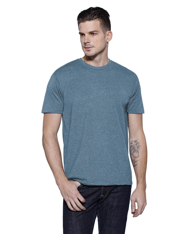 StarTee Drop Ship Men's CVC Crew Neck T-shirt STEEL BLUE HTHR