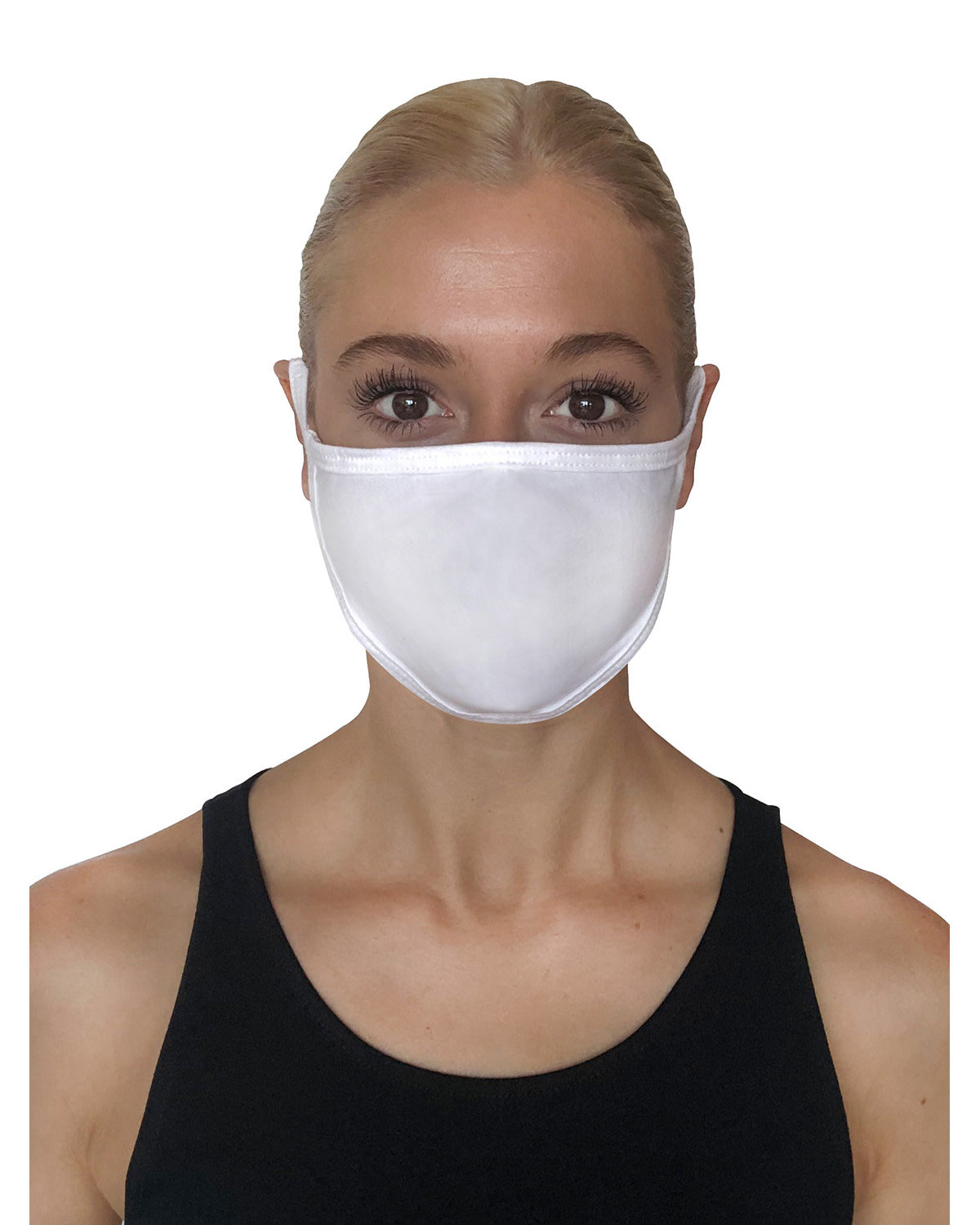 StarTee Drop Ship Unisex 2-Layer Cotton Face Mask WHITE