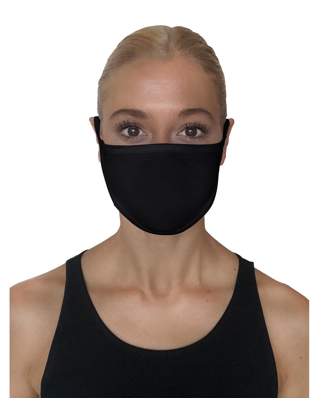 StarTee Drop Ship Unisex 2-Layer Cotton Face Mask BLACK