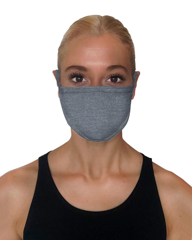 StarTee Drop Ship Unisex 2-Layer Cotton Face Mask TITANIUM HEATHER