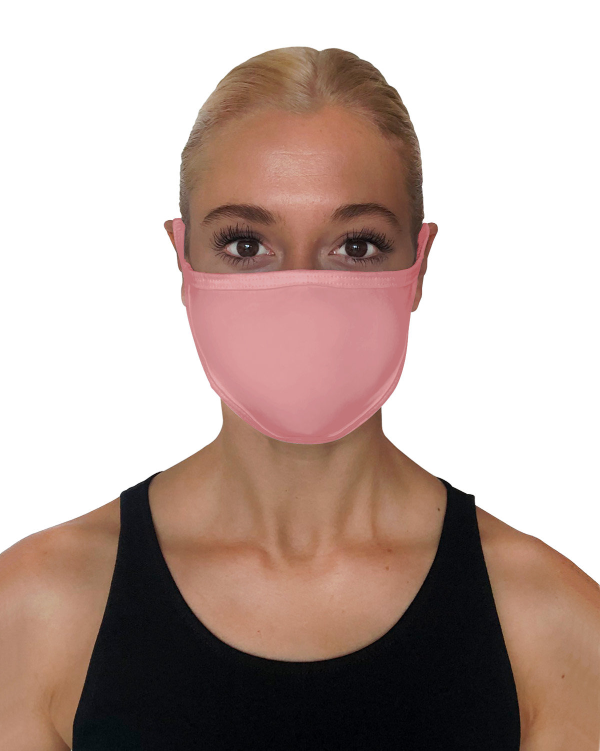 StarTee Drop Ship Unisex 2-Layer Cotton Face Mask DUSTY PINK
