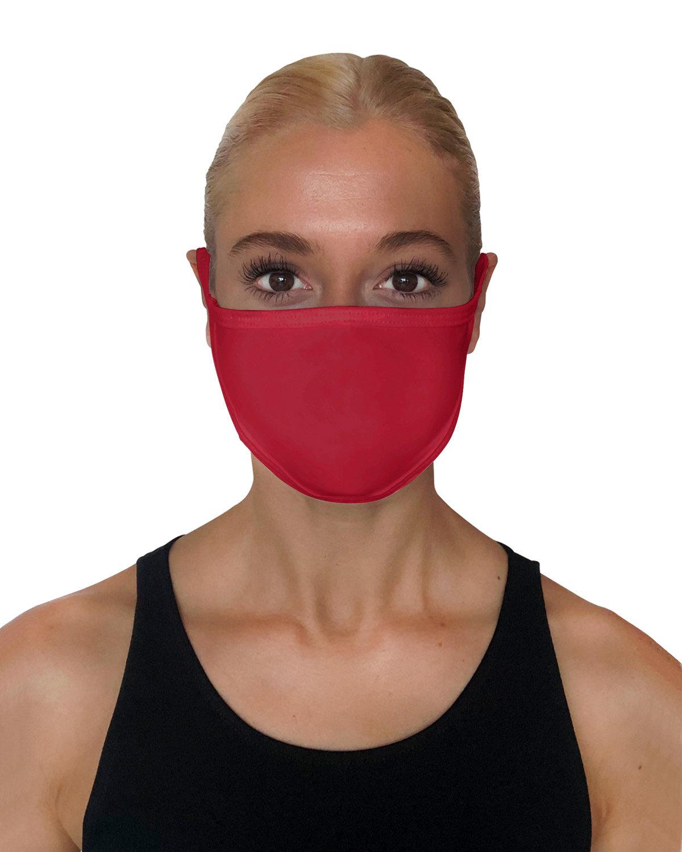 StarTee Drop Ship Unisex 2-Layer Cotton Face Mask CRIMSON