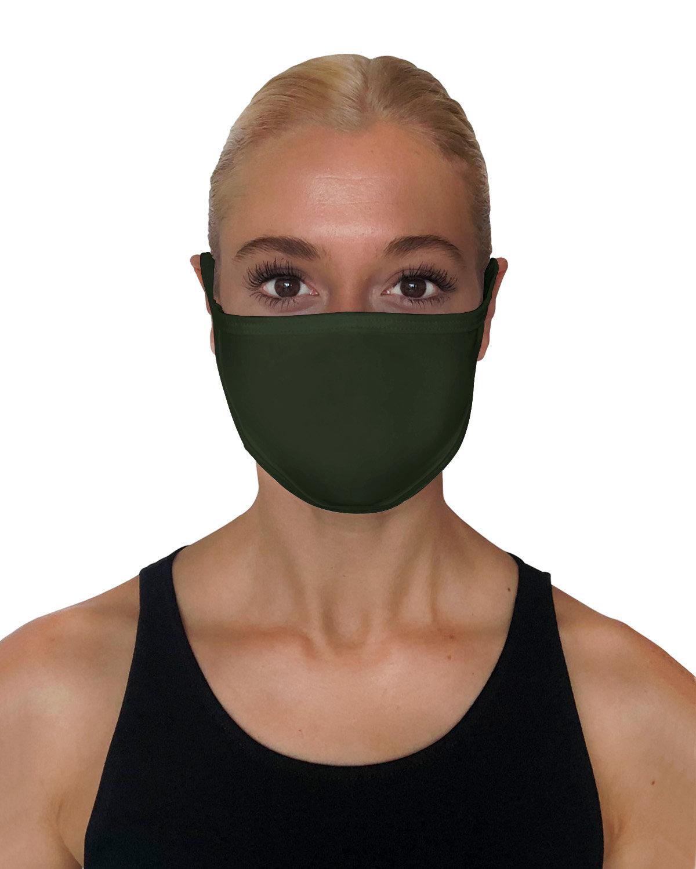 StarTee Drop Ship Unisex 2-Layer Cotton Face Mask DARK OLIVE